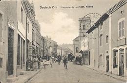 AUDIN LE TICHE. DEUTSCH OTH. RUE PRINCIPALE ET EGLISE - Frankrijk