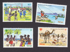 Kenya, Scott #137-140, Mint Hinged, International Year Of Children, Issued 1979 - Kenya (1963-...)