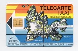 !!! TELECARTE DES TAAF - ILES KERGUELEN N°2 - 25 UNITES - TAAF - Terres Australes Antarctiques Françaises
