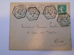 """FRANCE - Env Du Meeting De Betheny Pour Reims Avec Vignette """"Grande Semaine D'aviation De La Champagne"""" - 1909 - P21481 - Andere"""