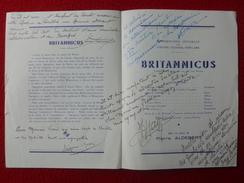 AUTOGRAPHE JEAN AYME PIERRE MORIN JEAN DAVY SUZY LEDRET PROGRAMME BRITANNICUS PALAIS CHAILLOT - Autographs