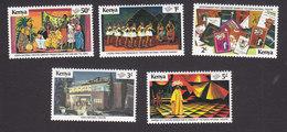 Kenya, Scott #141-145, Mint Hinged, National Theater, Issued 1979 - Kenya (1963-...)