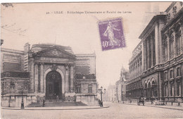 Carte Postale Ancienne Du Nord - Lille - Bibliothèque Universitaire Et Facultés De Lettres - Lille