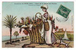 Carnaval De Nice 1909. Quatre Chars:  Danse Du Panier,  L'Esperanto,  La Belle Meunière, La Fraude Du Lait. (1494) - Carnaval
