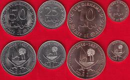"""Qatar Set Of 4 Coins: 1 - 50 Dirhams 2016 """"Tamim"""" UNC - Qatar"""