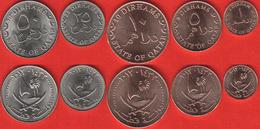 Qatar Set Of 5 Coins: 1 - 50 Dirhams 2012 UNC - Qatar