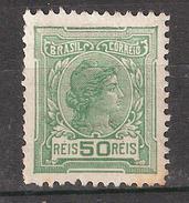 BRASIL / BRAZIL / BRESIL 1918 ,  Yvert N° 154 B ,Liberté , 50 R Vert , Filigrane ,neuf * / MH , Obl, B/TB - Brésil