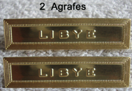 2 Agrafes LIBYE Neuves Barrettes Pour Médaille Ordonnance - Armée De Terre