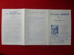 AUTOGRAPHE MARGUERITE MORENO LINE NERO ORBAL JEANNE LION SUZANNE BREVIL  MARCELLE NAUDIA JACQUES MANCIER - Autographes