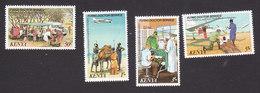 Kenya, Scott #162-165, Mint Hinged, Flying Doctor Service, Issued 1980 - Kenya (1963-...)