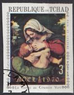 227g Ciad 1970 Madonna Del Cuscino Verde Quadro Dipinto Da A. Solari - Paintings Imperf. Nuovo Preoblit. Tchad Chad