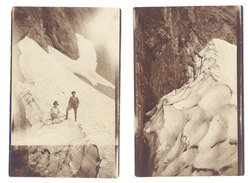 2 Photos Montagne, Souvenir De Cadéac ( Hautes Pyrénées ), Alpinisme, Neige - Luoghi