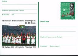Deutschland 1997 - Postkarte - Stuttgart (Markenbild: Sepp Herberger) - Fussball