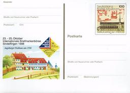 Deutschland 1998 - Postkarte - Sindelfingen (Markenbild: Kloster Maulbronn) - Klöster