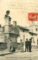 Cpa MAUZE 79 Statue De René Caillet - Mauze Sur Le Mignon