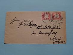 Umschlag / Envelop / Omslag 1894 GAND GENT Universitat Van Der Haeghen < WUERZBURG ( Zie Foto ) ! - Beieren