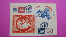 Carte-Maximum    N° 830 - 831   Timbre Non Dentelé Rouge, Bleub Type  Cérès  1949 - Cartoline Maximum