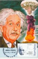 59412- PHYSICS YEAR, ALBERT EINSTEIN, MAXIMUM CARD, 2005, ROMANIA