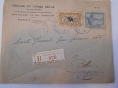CONGO BELGE - Env Recommandée De Coquilhatville Pour La France - Janv 1925 - P21484 - Congo Belge