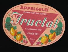 OUDENAARDE - APPELGELEI FRUCTAL - Etiquettes