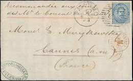 1880 ITALY SINGLE TO FRANCE RUSSIAN COUNCIL EMBASSY MAIL - Francobolli