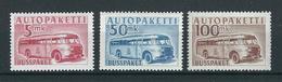 FINNLAND Autobus-Paketmarken MiNr. 6, 8, 9 ** Postfrisch - Postbuspakete