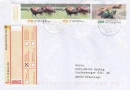Germany Cover Franked W/1999 Für Den Sport Posted Registered From Wasserburg (T14-14) - Briefe U. Dokumente