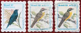 FREE POSTAGE!! Brazil Brasil 1997 1998 1999 Birds, Vögel, Oiseaux, Uccelli, Aves, Fauna, 3v, Used, Gestempelt, G - Songbirds & Tree Dwellers