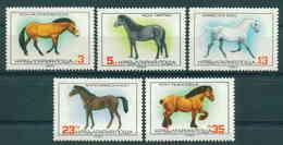 3006 Bulgaria 1980 Various Horses  ** MNH / Pferderassen - Araber  Przewalski-Pferd  Tarpan  Zugpferd Anglo-arabisches - Nuovi