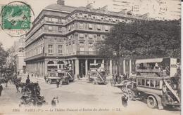 + CPA 75 Paris 1er -le Théatre Français Et Station Des Autobus + - District 01