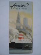 ANVERS PORT MONDIAL BELGIUM 1954 APROX. BÉLGIQUE 16 PAGES. - Bateaux