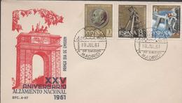 3133  FDC Madrid  1961 XXV Aniversario Alzamiento Nacional, - FDC