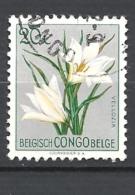CONGO BELGA 1952 -1953 Definitive Issues - Flowers  Used - Congo Belge