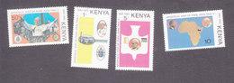 Kenya, Scott #167-170, Mint Hinged, Pope's Visit, Issued 1980 - Kenya (1963-...)