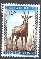 CONGO BELGA  1959 Definitive Issues - Animals    HINGED WG    Hippotragus Equinus - Congo Belge