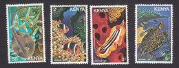 Kenya, Scott #171-174, Mint Hinged, Fish, Issued 1980 - Kenya (1963-...)