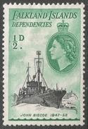Falkland Islands Dependencies. 1954-62 QEII. ½d MH. SG G26 - Falkland Islands