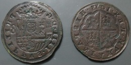 ESPAGNE Matrice De 8 Réales FELIPE IV 1633 à Identifier - Spain