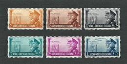 A.O.I. 1941 - Fratellanza D'armi Italo-tedesca - 6 Valori - MH - Sa:IT EA 34-38/40 - Africa Orientale Italiana