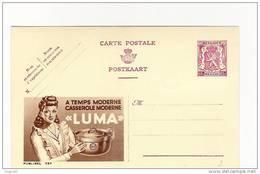 """Publibel Neuve N°  727 (A Temps Moderne; Casserole Moderne  """"LUMA""""  )  Femme Aux Yeux De Robot - Entiers Postaux"""