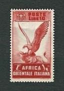 A.O.I. 1938 - Serie Pittorica - 10 L. Rosso Mattone - MH - Sa:IT EA 19 - Africa Orientale Italiana