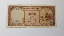 CAMBOGIA 20 RIELS 1972 - Cambodia