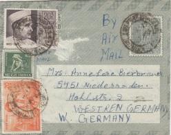 Indien, Falt-FP-Brief Indien > Germany 1970, 4 Fach Frankierung (Brief Mit Inhalt, Liebesbrief) - India