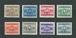 A.O.I. 1939 - Segnatasse - 8 Valori - MH - Sa:IT EA 1-8 - Africa Orientale Italiana