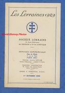 Catalogue Ancien De 1928 - Automobile LES LORRAINES , Société De DIETRICH - Présentation Des Différents Modèles - Cars