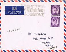 24170. Carta Aerea  BRIGTHON And HOVE (England) 1966. Resorts - 1952-.... (Elizabeth II)