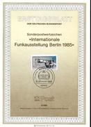 ALLEMAGNE BERLIN   Carte Notice 1985  Expo Radio Television - Sciences