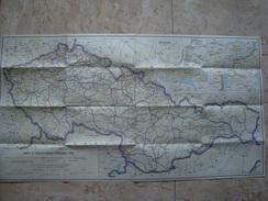 MAP K CESTOVNÉMU PORIADKU CSD (1962) CZECHOSLOVAKIA TRAIN LINES 1962 - Railway