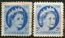 CANADA 1954 Isabel II. USADO - USED.