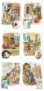 Finette Ou L'Adroite Princess - 6 Grands Chromos - Serie Complete - Autour De 1900 - Au Bon Marché